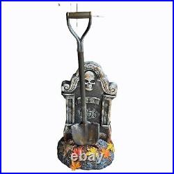 RARE Spirit Halloween Haunted Shovel With Tombstone Animatronic Prop