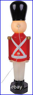 RED Plastic Nutcracker Soldier Holiday Yard Christmas Decoration Indoor Outdoor