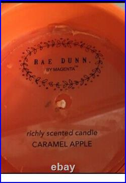 Rae Dunn Trick or Treat Canister and Witch's Brew Candle orange Halloween