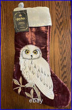 Rare Pottery Barn Teen Harry Potter HEDWIG Christmas Stocking No Monogram NWT