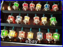 Rare Vintage Pifco Victorian Lanterns Christmas Lights 20 lights