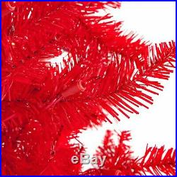 Red Ashley Pre-lit Christmas Tree by Sterling Tree Company