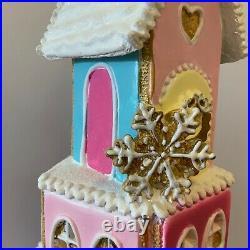 Resin Gingerbread House Christmas Light Decoration Gisela Graham