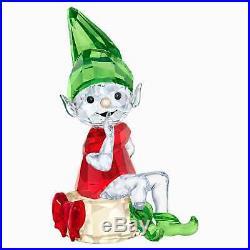 Retired Swarovski Crystal Santa's Elf Christmas Figurine 5402746 Mint New Boxed