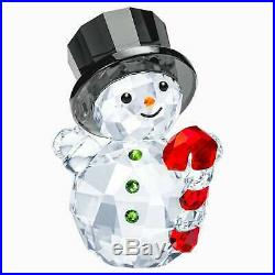 Retired Swarovski Crystal Snowman with Candy Cane 5464886 Christmas Mint Boxed