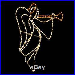 Right Trumpet Angel Christmas Holiday Outdoor LED Lighted Decoration Wireframe