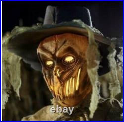 Rotten Patch 6 Foot Animated LED Inferno Scarecrow Halloween Decorations 2021