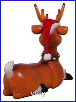 Rudolph Christmas Reindeer Sitting 3FT Christmas Decor Reindeer Statue