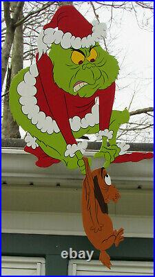 Sale. Gutter-mount Grinch And Max C'mere You. Best Offer