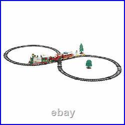 Santa Christmas Tree Train Track Set Kids Toy Gift Decoration Lights and Sound
