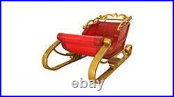 Santa Sleigh 2 Seater Red 6.6 FT Long