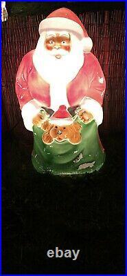 Santa christmas blow mould christmas light
