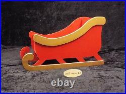 Santa's Sleigh wooden MDF Decoration Freestanding XMAS Christmas 800mm long