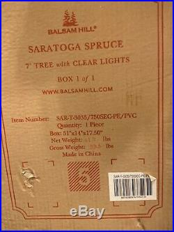 Sarahtoga Spruce, Balsam Hill, 7 Foot Tree With Clear Lights, Item Number