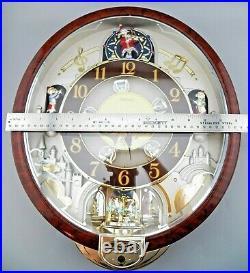 Seiko Melodies In Motion Wall Clock QXM481BRH Christmas Swarovski VIDEO EUC