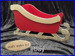 Sleigh-Reindeer wooden MDF Santa's XMAS Christmas Decoration Freestanding