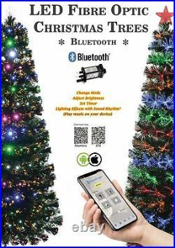 Smart LED Fibre Optic Christmas Tree Bluetooth Compatibility Xmas Home Decor