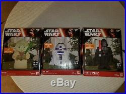 Star Wars Disney R2-D2 & Yoda & Darth Vader Airblown Inflatable Yard decor Gemmy