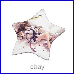 Sublimation Star Christmas Decoration 3 Blank Ceramic Hanging / Baubles Tree