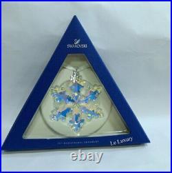 Swarovski 25th Anniversary Ornament, An. Ld SNOWFLAKE Crystal authentic 5258537