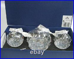 Swarovski Christmas Ball Ornament Set 2015 Clear/AB Crystal Authentic 5136414