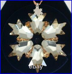 Swarovski SCS Stern Christmas Ornament 2018 Gross Gold 5376665 Neu 99