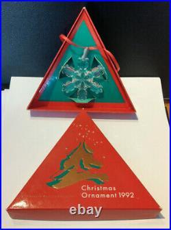 Swarovski Stern Weihnachtsstern Holiday Christmas Ornament 1992 TOP OVP MIB