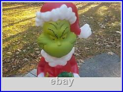 THE GRINCH Lighted 24 Santa Blow Mold Christmas Outdoor Yard Lights Decoration