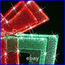 The 4' Star Bright Twinkling Christmas Lights LED Present lawn ornament