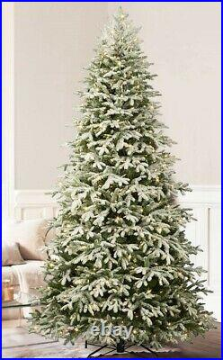 The Frosted Fraser Fir Christmas Tree Candlelight Clear LED 5.5' x 40