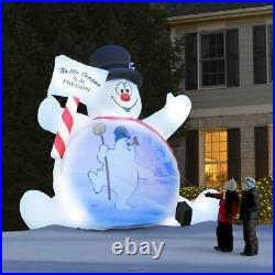 The Video Projecting 10' Frosty The Snowman Christmas Decoration