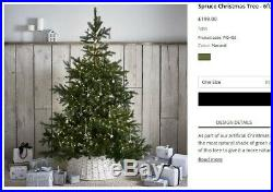 The White Company Spruce realistic looking Christmas Tree 6ft (New)