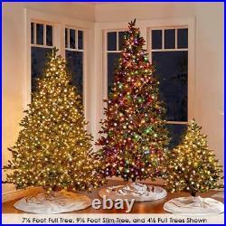 The World's Best Prelit LED Light Noble Fir Christmas Tree (7.5' MEDIUM) WHITE