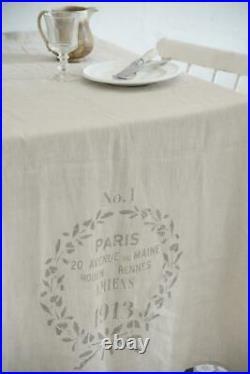 Tischdecke 100% Leinen Amiens Paris 220x140cm Jeanne d´Arc living Tischtuch
