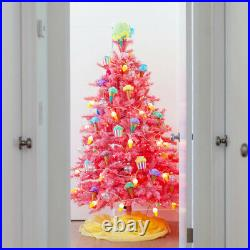 Treetopia Pink 6 Ft Artificial Christmas Tree with Lights and Stand (Open Box)