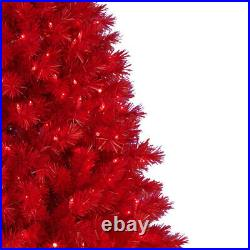 Treetopia Red 6-Ft Artificial Prelit Tree with Colored Lights & Stand (Open Box)