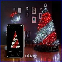 Twinkly 190 LED RGB Multicolor 16x2 ft Icicle Lights, Bluetooth Wifi Controlled