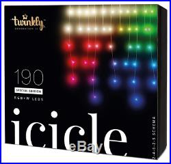 Twinkly 190-Light RGBW LED Icicle Set String Lights, Standard, Multi-Colored