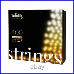 Twinkly 400 LED Amber & White 105 ft. String Lights, WiFi Controlled (Open Box)
