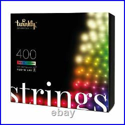 Twinkly 400 LED RGB Multicolor + White 105 ft. String Lights (Open Box)