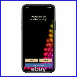 Twinkly 7.5ft Pre Lit App Controlled Christmas Tree w 400 RGB+W LEDs (Used)