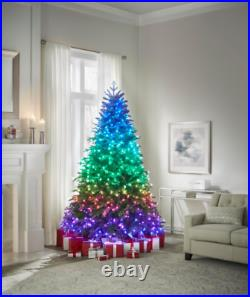 Twinkly Rainbow Christmas Tree with 600 RGB LED Technology Lights 7.5 ft