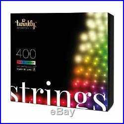 Twinkly Smart Custom 400 Bulb LED RGB+W App-Controlled String Lights (Used)