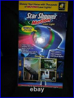 Two! BulbHead Star Shower Motion Laser Light Christmas Light Shows