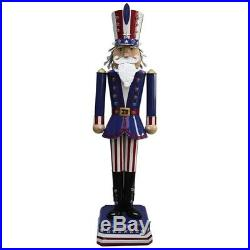 Uncle Sam Nutcracker Statue Patriotic 50 LED Light
