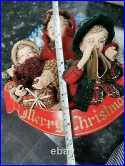 VINTAGE 1990s singing Christmas Carol singers Decoration with light up lantern