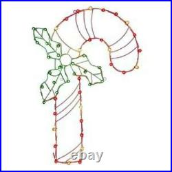 Vickerman 48 C7 LED Candy Cane Wire Silhouette Christmas Product