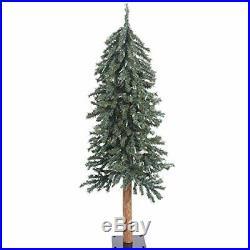 Vickerman 4' Natural Bark Alpine Artificial Christmas Tree Unlit