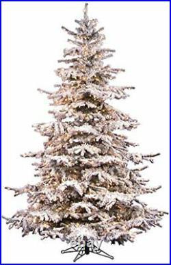 Vickerman 6.5' Flocked Sierra Fir Artificial Christmas Tree Unlit
