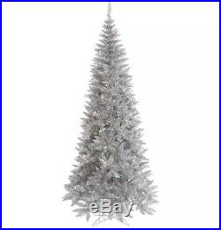 Vickerman Silver Tinsel Fir Christmas Tree, K166755